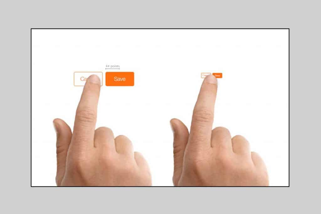 Button size will be larger when small screen size will be concerned