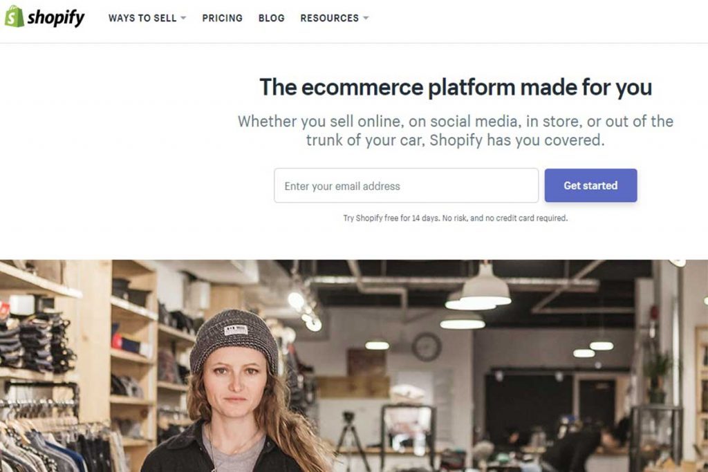 eCommerce CMS Platform to build online stores - Shopify