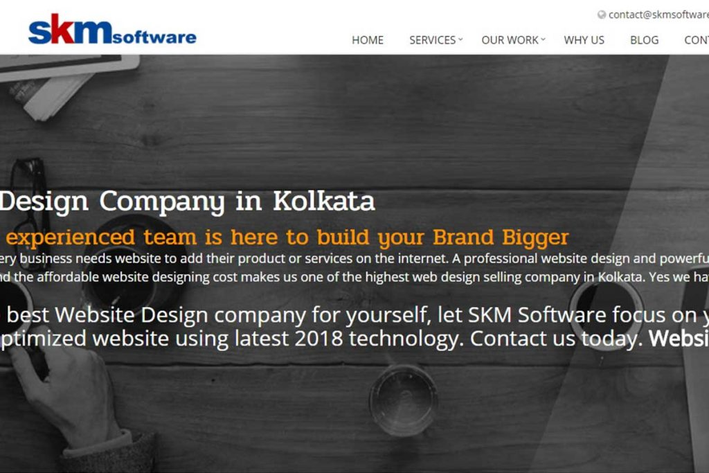 One of the finest website development company in Kolkata - SKM Software