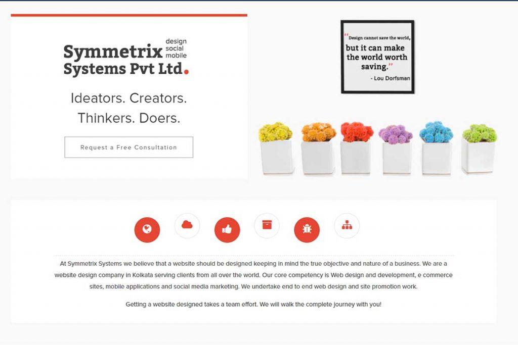 Symmetrix is the most proficient web design company in Kolkata