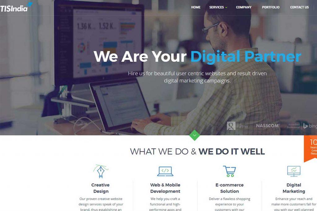 TIS India - Top website design company in India