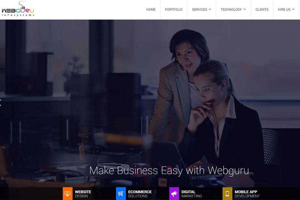 WebGuru - Leading web Design Company in India