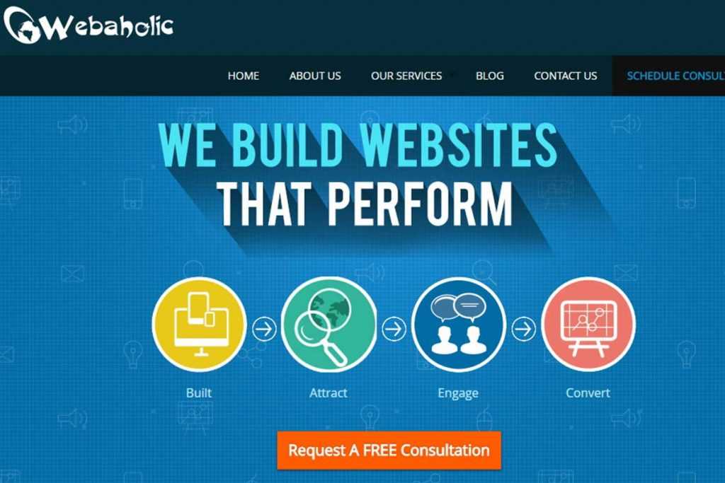 Webaholic - Best web design company in Kolkata