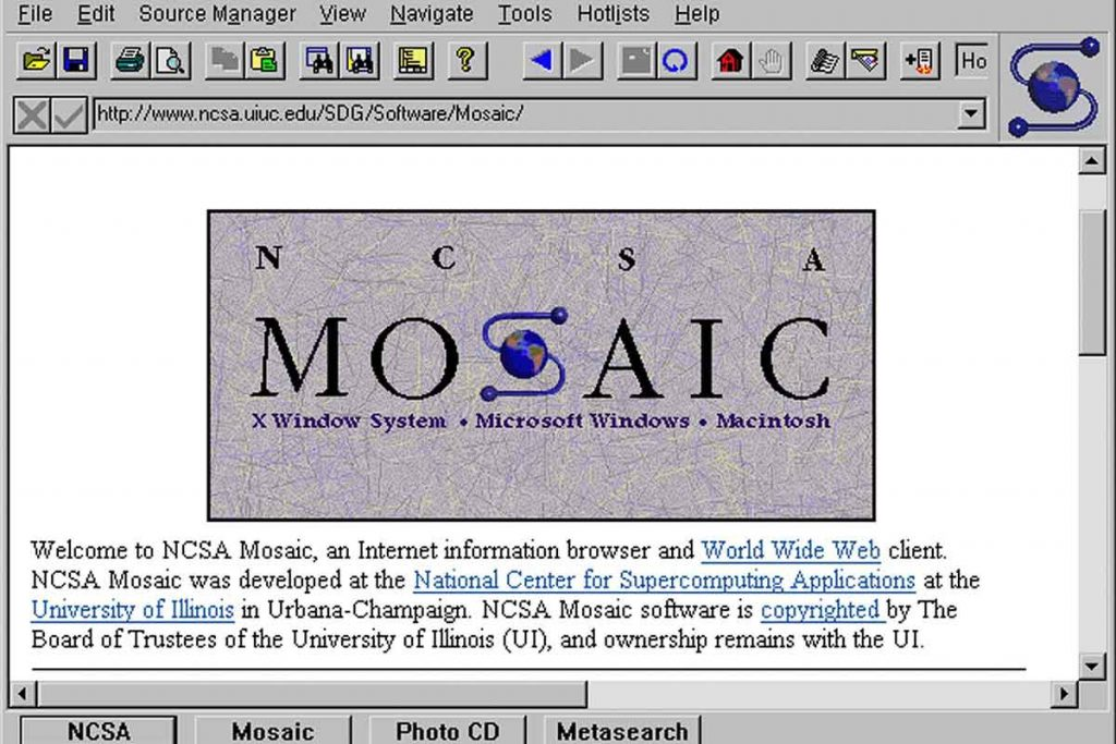Mosaic Browser - First Popular Browser