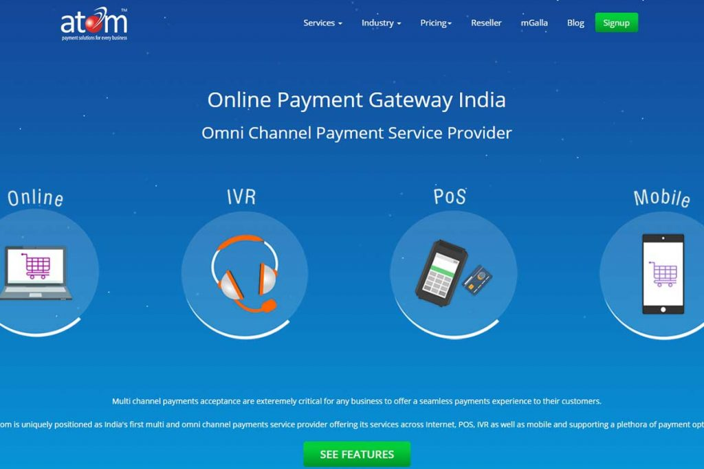 Atom Paynetz - Top Payment Gateways Available in India