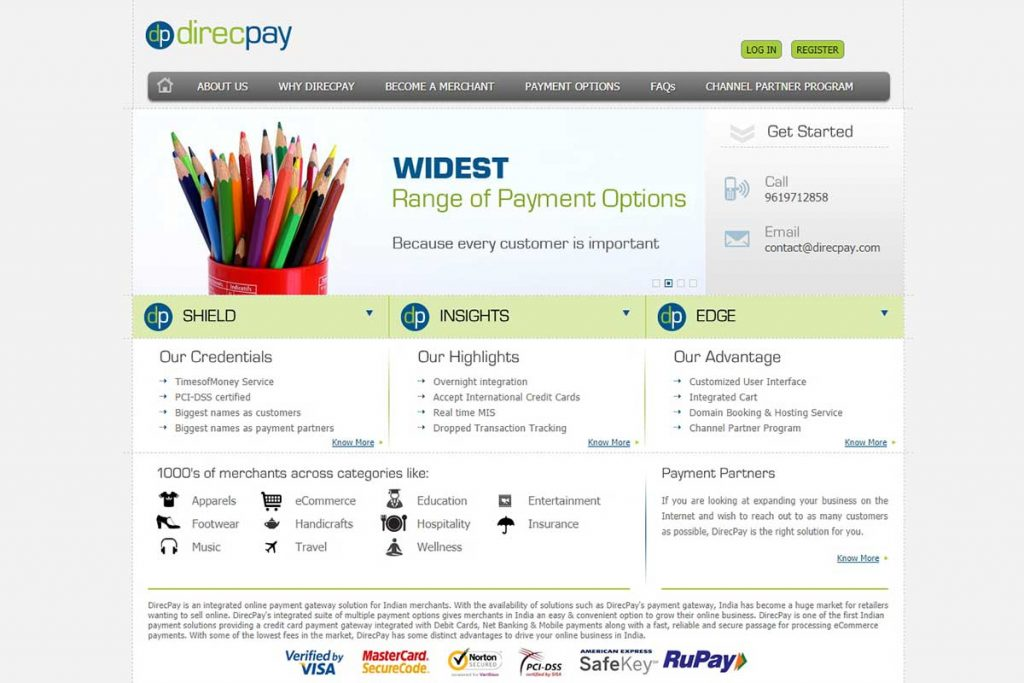 DirecPay - Besy Payment Gateways in India