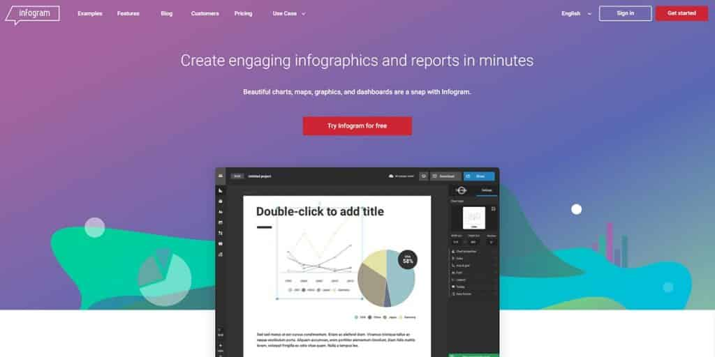 Infogram - Free Online Graphic Design Tool for Interaction Design