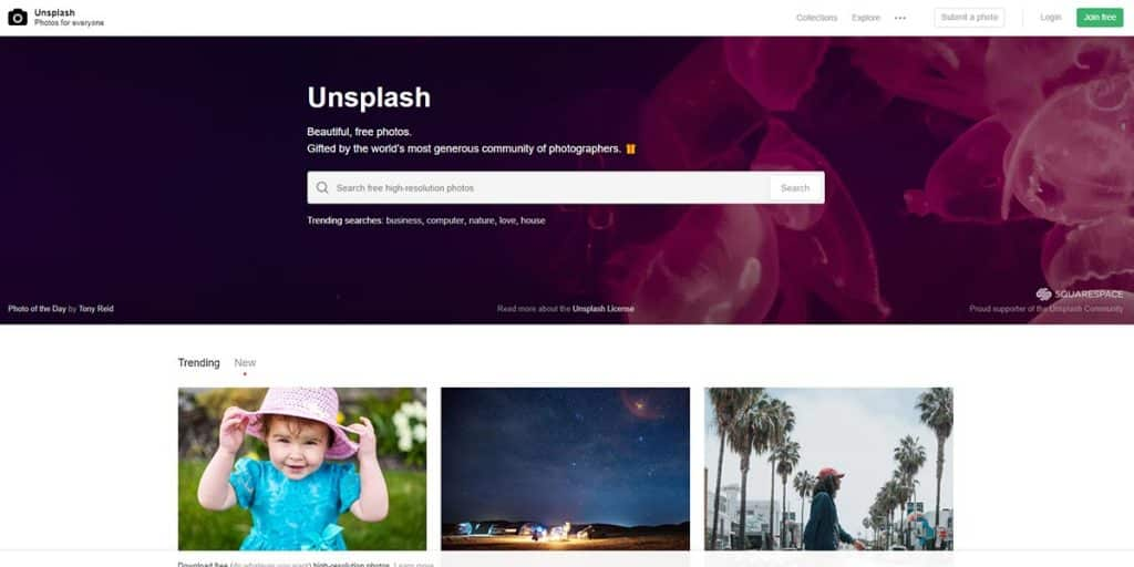 Unsplash - Free Online Graphic Design Tool for Stock Images