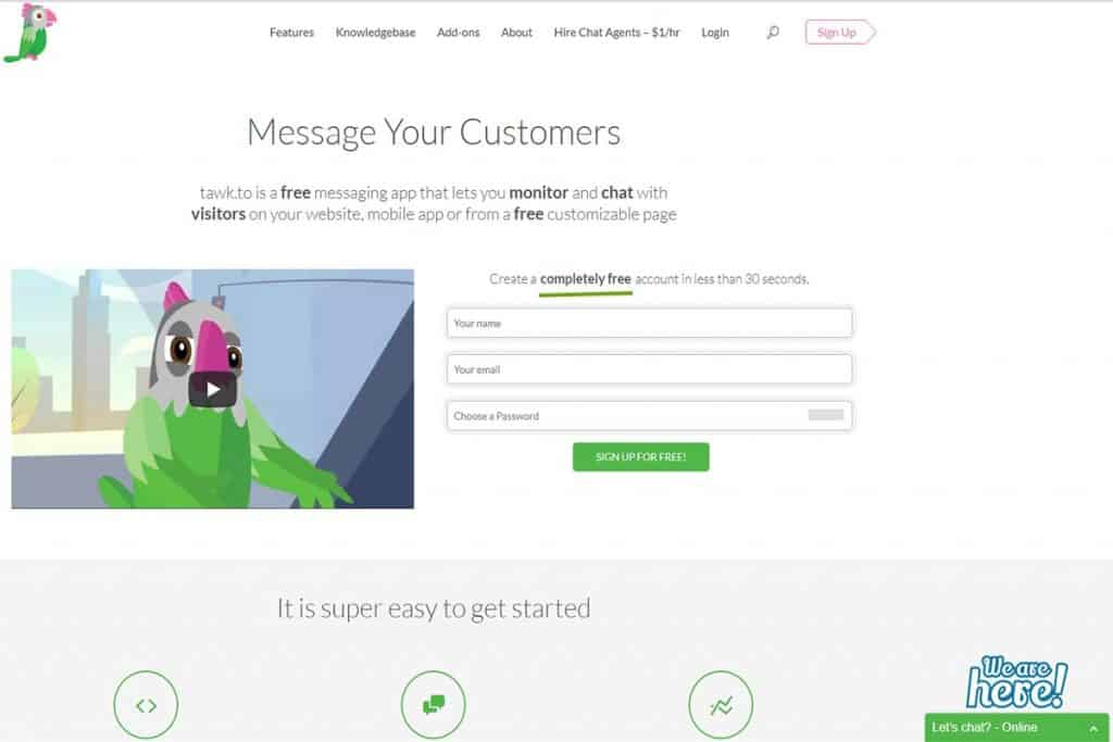Tawk.To - Completely Free Website Chatting App Live
