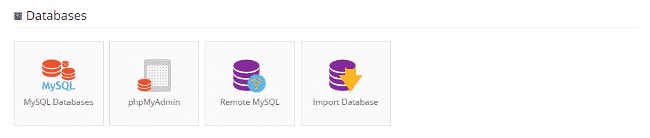 locate MySQL databases