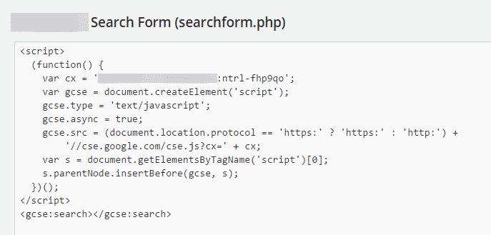 editor search form