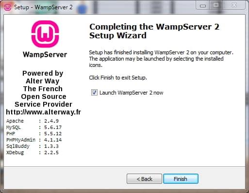 wampserver installed
