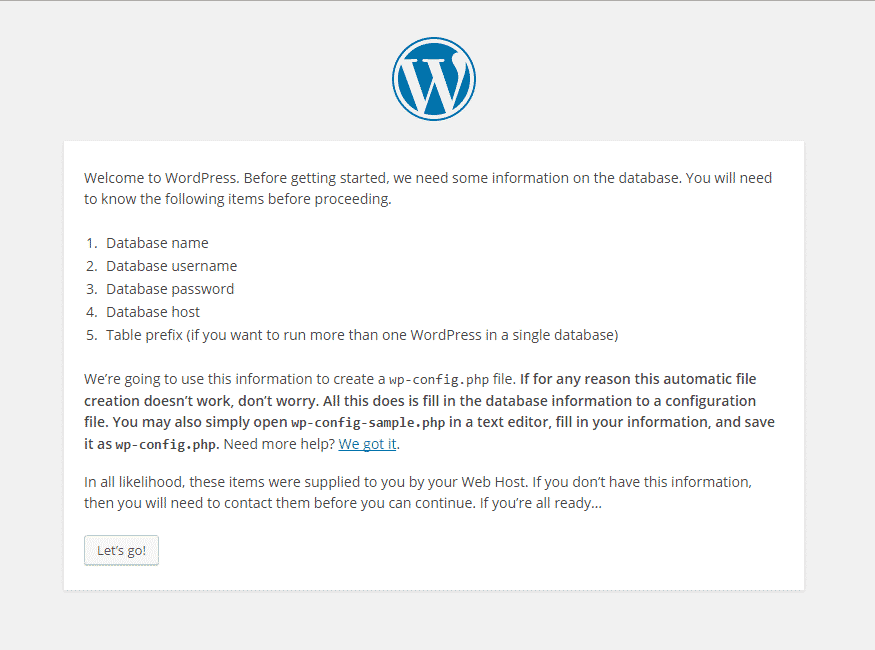 wordpress requirements