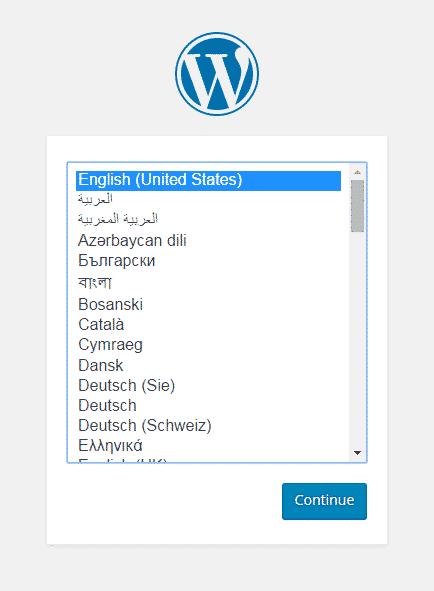 wordpress language