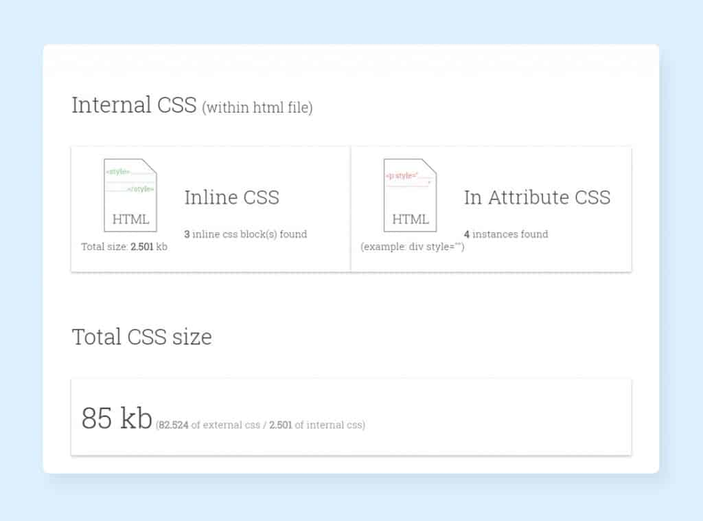 CSS Delivery Tool Report to Speed up Website Loading Time
