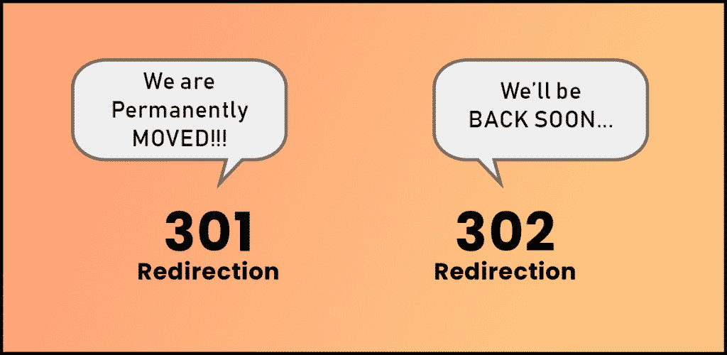 301 Redirection and 302 Redirection