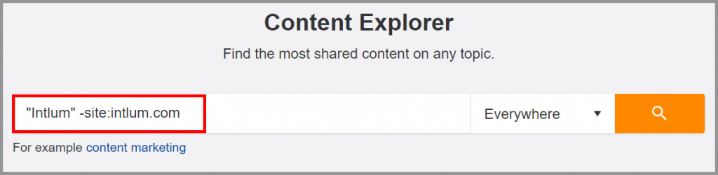 Discover Unlinked Mentions with Ahrefs Content Explorer