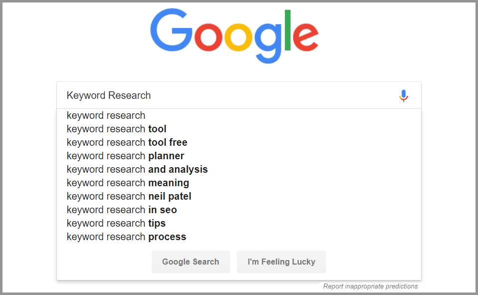 Find Long Tail Keywords through Google Autocomplete Search
