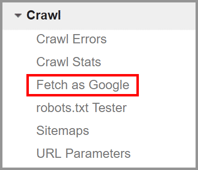 Google Search Console - Fetch as Google