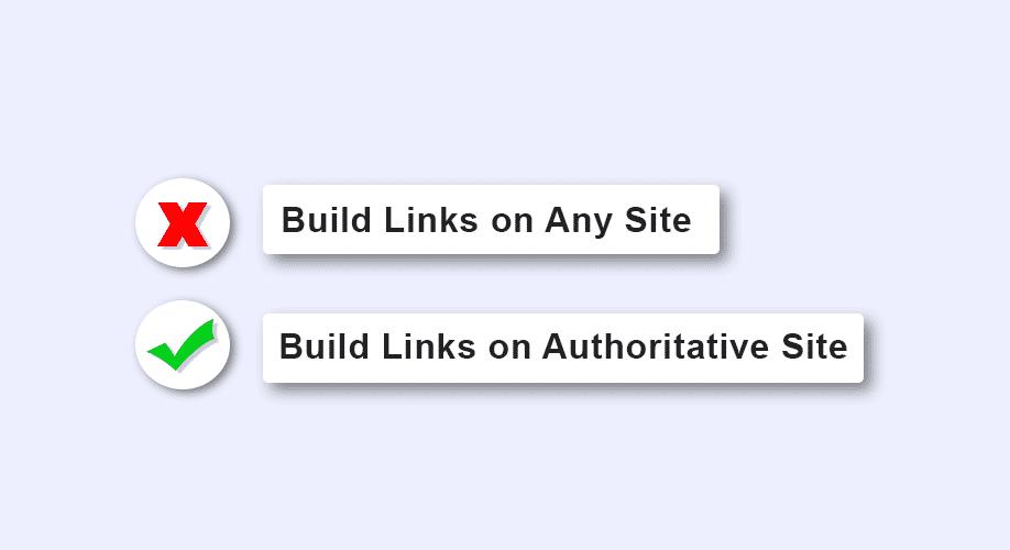 Link Building on Authoritative Sites