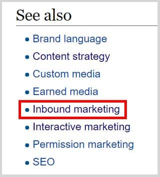 Wikipedia Niche Market Research - See Also Section