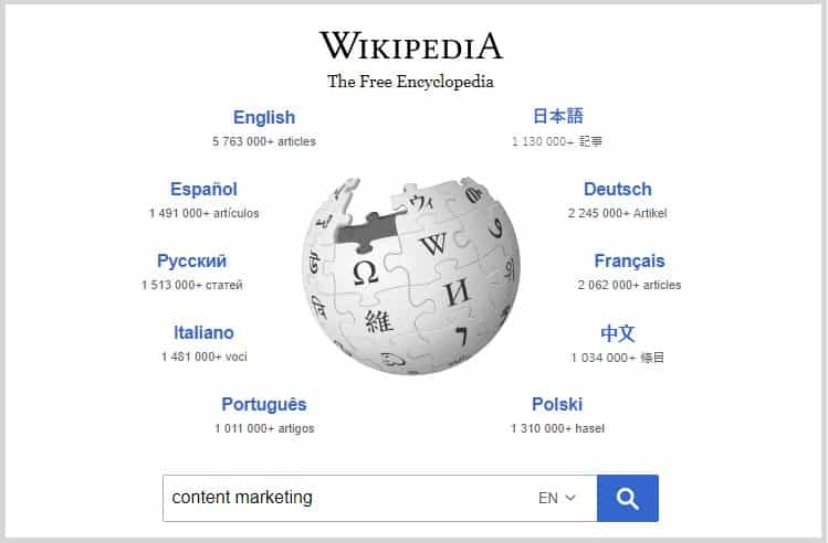 Wikipedia Niche Market Research