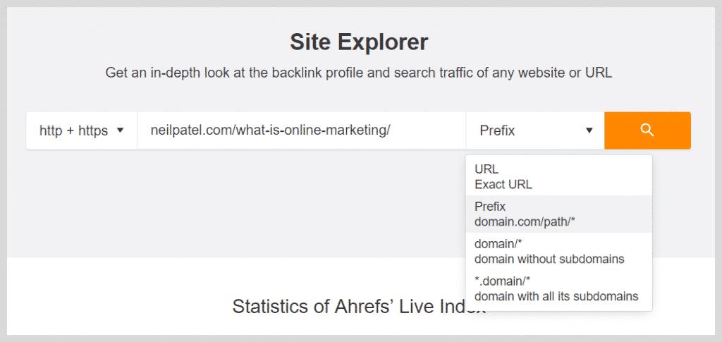 Ahrefs Site Analysis