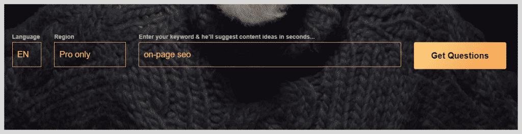 AnswerThePublic Search